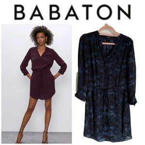 Aritzia Babaton Bennett Dress in Black / Blue